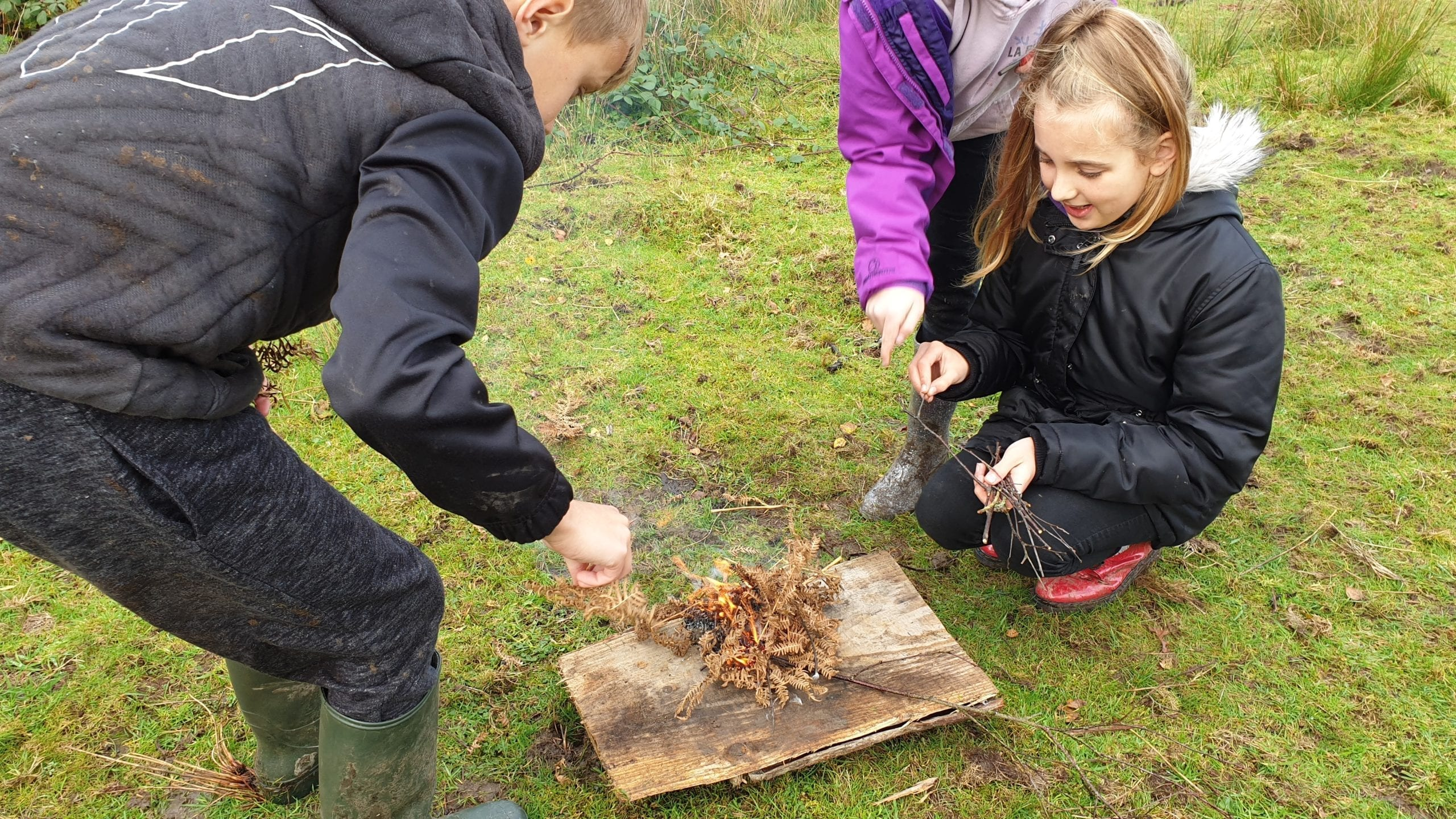 Learning fire-making skills